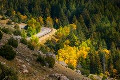 Route 16 Wyoming near Thermopolis Royalty Free Stock Photos