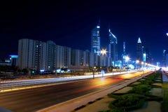 Route zayed par cheik Photo libre de droits