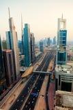 Route zayed par cheik Photographie stock