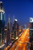Route zayed par cheik Images libres de droits