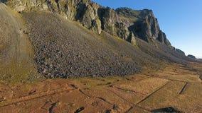 Route 1 in Zuid-IJsland stock footage