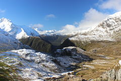 Routeburn track, New Zealand. Absolutely beautiful view at Routeburn track during the winter season Royalty Free Stock Photos