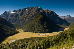 Routeburn valley Royalty Free Stock Images