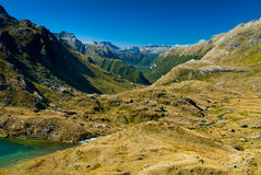 Routeburn valley Stock Image
