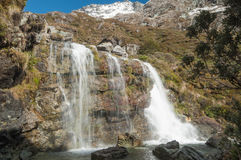 Routeburn waterfall, New Zealand Stock Photos