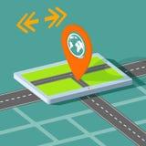 Routekaart op de tablet Royalty-vrije Stock Afbeelding
