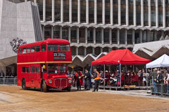 A Routemaster bus in the Cart marking Ceremony Royalty Free Stock Images