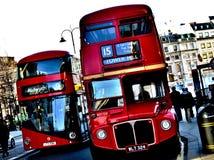 Routemasters - alt und neu Lizenzfreie Stockbilder