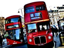 Routemasters Stary i Nowy - Obrazy Royalty Free