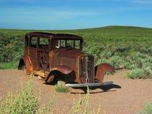 routen för bilen för 66 az rostade den gammala tappning Royaltyfri Foto