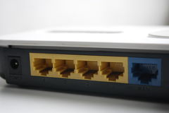 Routerów porty Fotografia Stock