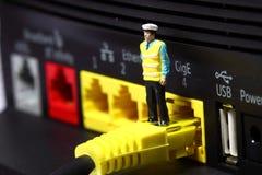 Router C del vigilante de seguridad Imagenes de archivo
