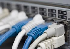 Router with Cables Stock Photo