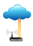 Router cloud computing connection concept Stock Photo