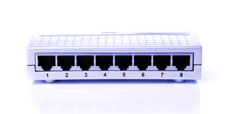 Router, commutator, switchboard with the connected Stock Photography