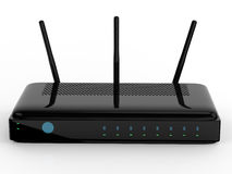 Router. 3d rendering wireless router on white background royalty free illustration