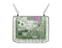 Router del modem dei raggi x fotografie stock libere da diritti