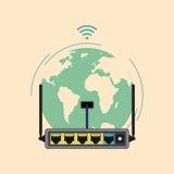 Router del Wi-Fi ilustración del vector