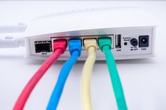 Router di Internet Fotografie Stock Libere da Diritti