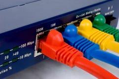 Router e cabos Imagens de Stock Royalty Free