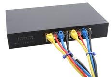 Router e cabos isolados fotos de stock