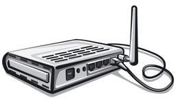 Router en red Foto de archivo