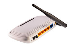 Router för Wi fi Arkivfoto