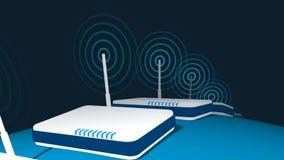 Router globali che trasmettono ciclo illustrazione vettoriale
