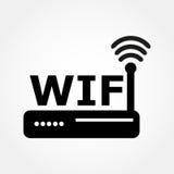 Router i Wi fi ikona Zdjęcie Royalty Free