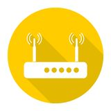 Router icon with long shadow. Router icon, simple vector icon Royalty Free Stock Photo