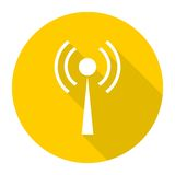 Router icon with long shadow. Vector icon Stock Images