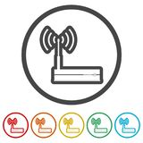 Router icon, Modem router, 6 Colors Included. Simple vector icons set Vector Illustration
