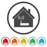 House Router icon, Modem router, 6 Colors Included. Router icon, Modem router, 6 Colors Included, simple vector icons set Royalty Free Illustration