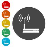 Router icon, Modem router, icons set. Router icon, Modem router, simple icons set Vector Illustration