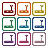 Router icon vector, router icons set. Vector icon Vector Illustration