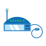 Router internet connection modem usb cable Royalty Free Stock Photos