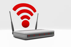 Router. An internet wireless router Royalty Free Stock Photo