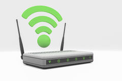 Router. An internet wireless router Stock Photo