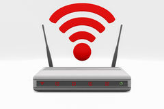 Router. An internet wireless router Stock Image