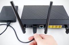 Router mit Ersatzspeicherscheibe Lizenzfreies Stockfoto