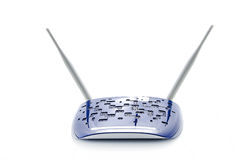 Wi-Fi Router. Modern Blue Wi-Fi Router On White Background royalty free stock image