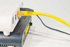 Router network hub Stock Image