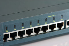 Router ports Stock Photography