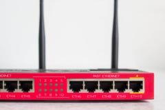 Router rojo de Wi-Fi Imágenes de archivo libres de regalías