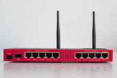 Router rojo de Wi-Fi Foto de archivo libre de regalías
