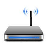 Router senza fili con l'illustrazione dell'antenna Immagine Stock Libera da Diritti