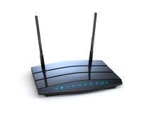 Router senza fili del nero di Wi-Fi royalty illustrazione gratis