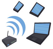 Router sharing internet Royalty Free Stock Image