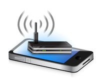 Router smartphone Royalty Free Stock Photo