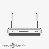 Router vector icon. On grey background vector illustration